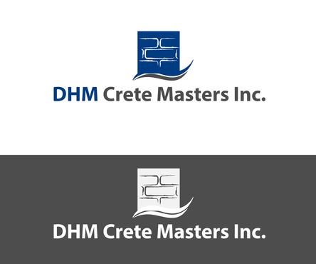 DHM Crete Masters, Inc. (not sure if it needs to be in design but that's the name of company A Logo, Monogram, or Icon  Draft # 7 by PIXIDUST