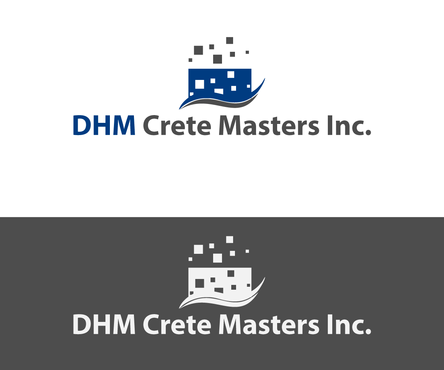 DHM Crete Masters, Inc. (not sure if it needs to be in design but that's the name of company A Logo, Monogram, or Icon  Draft # 8 by PIXIDUST