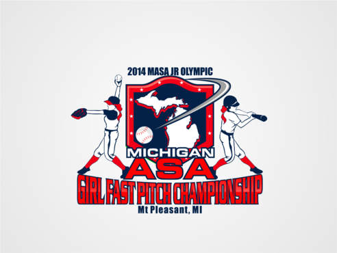 2014 MASA Jr Olympic Girls Fast Pitch State Championship A Logo, Monogram, or Icon  Draft # 21 by RaineDesign
