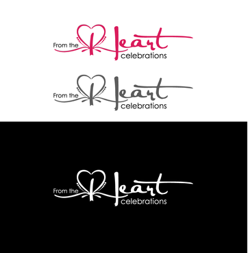 From the heart celebrations A Logo, Monogram, or Icon  Draft # 27 by InventiveStylus