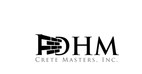 DHM Crete Masters, Inc. (not sure if it needs to be in design but that's the name of company A Logo, Monogram, or Icon  Draft # 15 by kingmaster