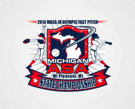 2014 MASA Jr Olympic Girls Fast Pitch State Championship A Logo, Monogram, or Icon  Draft # 28 by RaineDesign