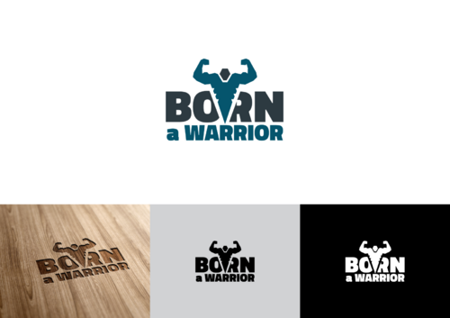 Born a Warrior Logo Winning Design by pedroferreira