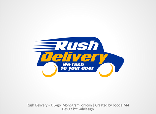 a car that symbols delivery service and that reflects its fast A Logo, Monogram, or Icon  Draft # 34 by validesign