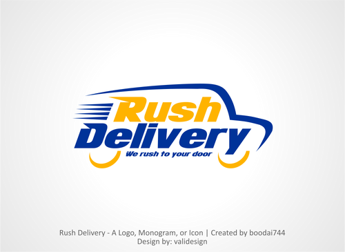 a car that symbols delivery service and that reflects its fast A Logo, Monogram, or Icon  Draft # 36 by validesign