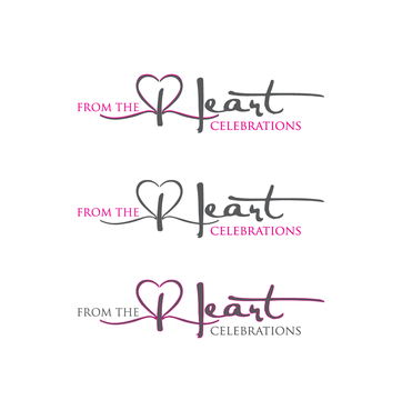 From the heart celebrations A Logo, Monogram, or Icon  Draft # 30 by InventiveStylus