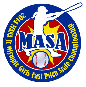 2014 MASA Jr Olympic Girls Fast Pitch State Championship A Logo, Monogram, or Icon  Draft # 41 by Designfeedz