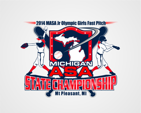 2014 MASA Jr Olympic Girls Fast Pitch State Championship A Logo, Monogram, or Icon  Draft # 44 by RaineDesign
