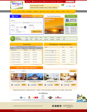 Hotel reservations and flght bookings Web Design  Draft # 64 by dinesh1201