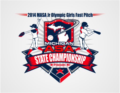 2014 MASA Jr Olympic Girls Fast Pitch State Championship A Logo, Monogram, or Icon  Draft # 48 by RaineDesign