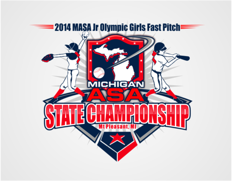 2014 MASA Jr Olympic Girls Fast Pitch State Championship A Logo, Monogram, or Icon  Draft # 49 by RaineDesign