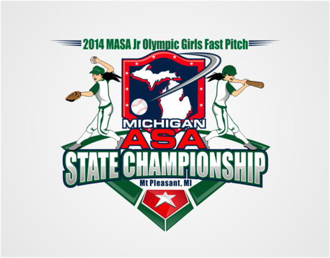 2014 MASA Jr Olympic Girls Fast Pitch State Championship A Logo, Monogram, or Icon  Draft # 51 by RaineDesign