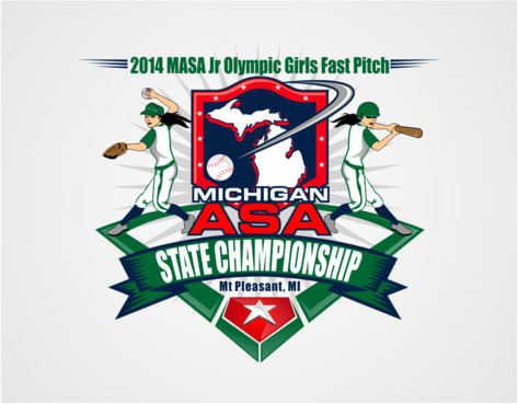 2014 MASA Jr Olympic Girls Fast Pitch State Championship A Logo, Monogram, or Icon  Draft # 52 by RaineDesign