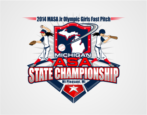 2014 MASA Jr Olympic Girls Fast Pitch State Championship Logo Winning Design by RaineDesign
