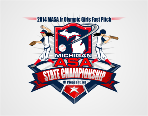 2014 MASA Jr Olympic Girls Fast Pitch State Championship A Logo, Monogram, or Icon  Draft # 55 by RaineDesign