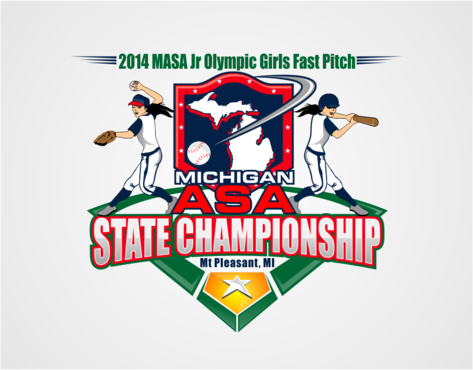 2014 MASA Jr Olympic Girls Fast Pitch State Championship A Logo, Monogram, or Icon  Draft # 56 by RaineDesign