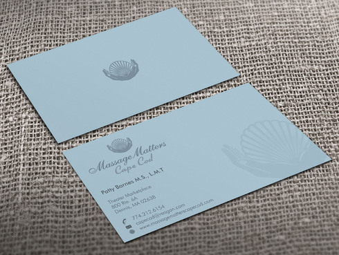 Massage Matters Cape Cod Business Cards and Stationery  Draft # 55 by Xpert