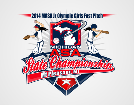2014 MASA Jr Olympic Girls Fast Pitch State Championship A Logo, Monogram, or Icon  Draft # 60 by RaineDesign