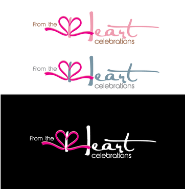 From the heart celebrations A Logo, Monogram, or Icon  Draft # 43 by InventiveStylus