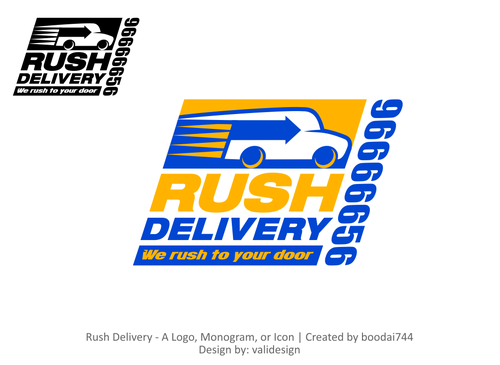 a car that symbols delivery service and that reflects its fast A Logo, Monogram, or Icon  Draft # 107 by validesign