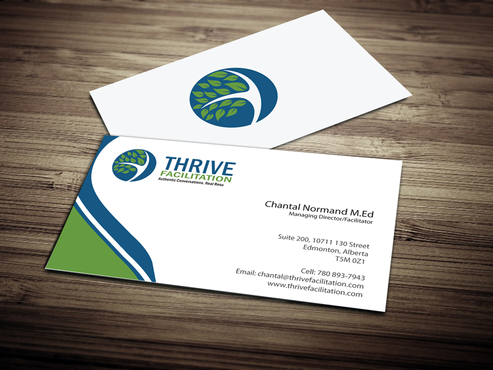 THRIVE FACILITATION Business Cards and Stationery  Draft # 296 by jpgart92