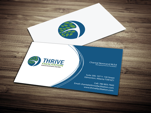 THRIVE FACILITATION Business Cards and Stationery  Draft # 300 by jpgart92