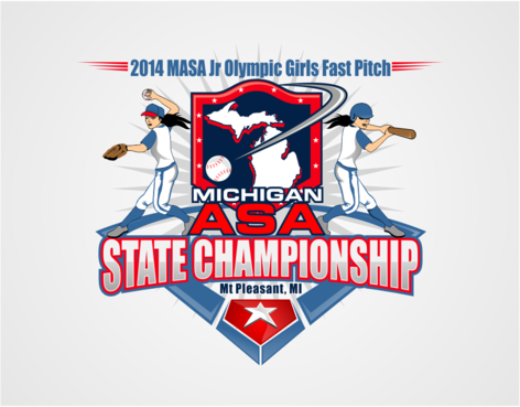 2014 MASA Jr Olympic Girls Fast Pitch State Championship A Logo, Monogram, or Icon  Draft # 64 by RaineDesign
