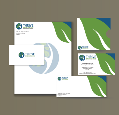 THRIVE FACILITATION Business Cards and Stationery  Draft # 317 by jpgart92