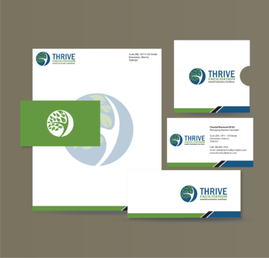 THRIVE FACILITATION Business Cards and Stationery  Draft # 319 by jpgart92
