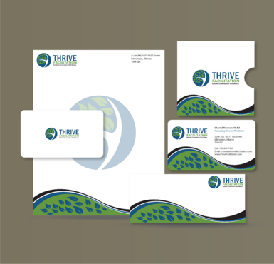 THRIVE FACILITATION Business Cards and Stationery  Draft # 320 by jpgart92