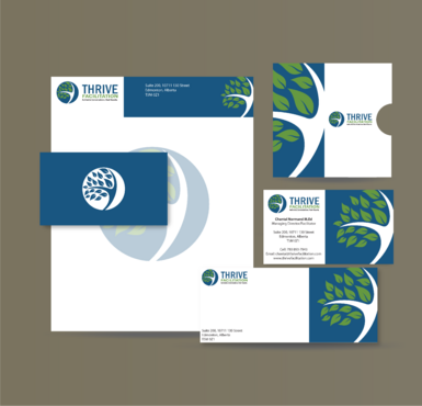 THRIVE FACILITATION Business Cards and Stationery  Draft # 323 by jpgart92