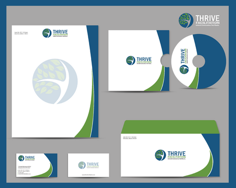 THRIVE FACILITATION Business Cards and Stationery  Draft # 327 by jpgart92