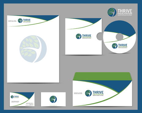 THRIVE FACILITATION Business Cards and Stationery  Draft # 328 by jpgart92