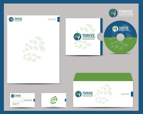 THRIVE FACILITATION Business Cards and Stationery  Draft # 335 by jpgart92
