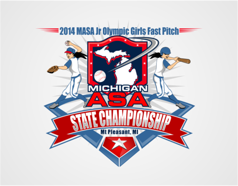 2014 MASA Jr Olympic Girls Fast Pitch State Championship A Logo, Monogram, or Icon  Draft # 65 by RaineDesign