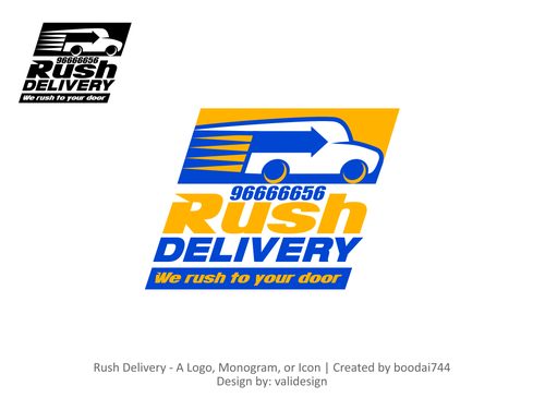 a car that symbols delivery service and that reflects its fast A Logo, Monogram, or Icon  Draft # 116 by validesign