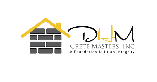 DHM Crete Masters, Inc. (not sure if it needs to be in design but that's the name of company A Logo, Monogram, or Icon  Draft # 40 by kingmaster
