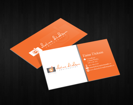 Elaine Dickson Photography Business Cards and Stationery  Draft # 236 by decentdesign