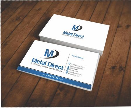 Metal Manufacturing Business Cards and Stationery  Draft # 97 by Deck86