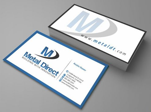 Metal Manufacturing Business Cards and Stationery  Draft # 98 by Deck86