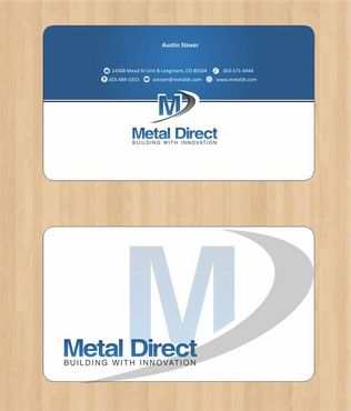 Metal Manufacturing Business Cards and Stationery  Draft # 106 by Deck86