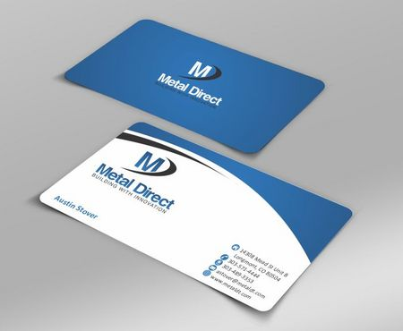 Metal Manufacturing Business Cards and Stationery  Draft # 112 by Deck86