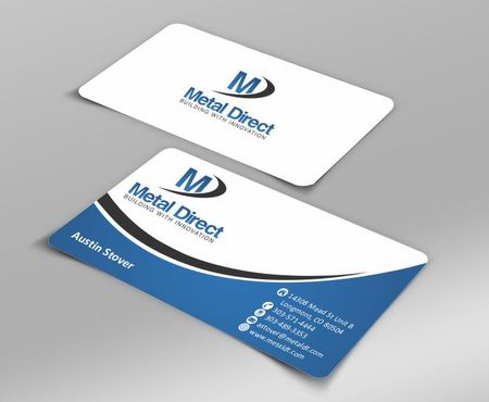 Metal Manufacturing Business Cards and Stationery  Draft # 114 by Deck86