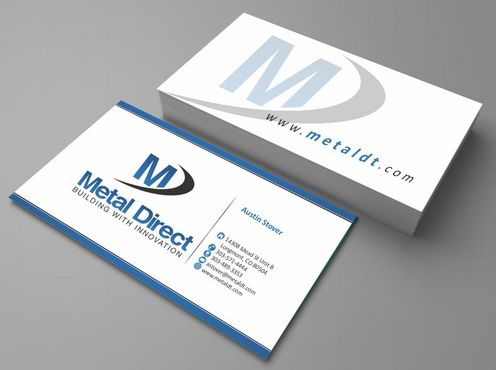 Metal Manufacturing Business Cards and Stationery  Draft # 138 by Deck86