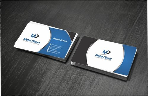 Metal Manufacturing Business Cards and Stationery  Draft # 155 by Deck86