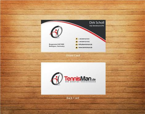 DER GÜNSTIGE TENNISVERSAND Business Cards and Stationery  Draft # 4 by 14stars