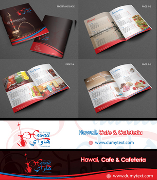 Menu & Signboard Design for Hawaii Cafe & Cafeteria Marketing collateral  Draft # 25 by Achiver
