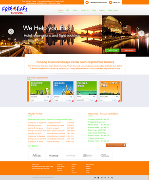 Hotel reservations and flght bookings Web Design  Draft # 80 by xpertdesign1