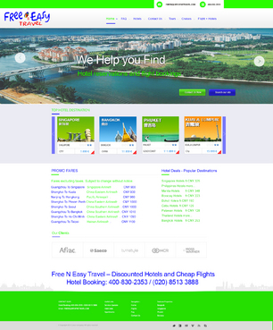 Hotel reservations and flght bookings Web Design  Draft # 81 by xpertdesign1