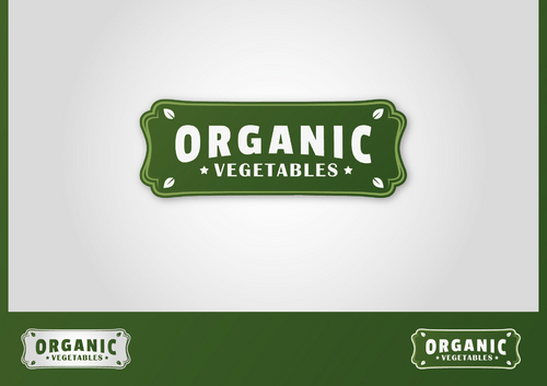 ORGANIC  VEGETABLES A Logo, Monogram, or Icon  Draft # 7 by ferkysign